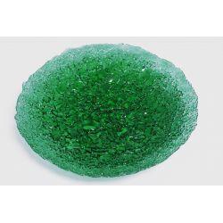 Patera zgrzewana fi 32 cm zieleń transparentna