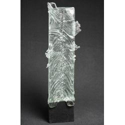 Rzeźba szkło+beton pion