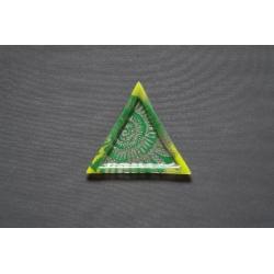 Trójkątny talerz Amonit Zielony - 23 x 23 x 23 cm