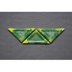 Trójkątny talerz Amonit Zielony - 23 x 16 x 16 cm