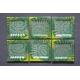 Płaski kwadratowy talerz Amonit Zielony - 17 x 17 cm
