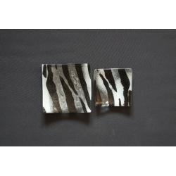 Wygięty talerz Zebra - 13x13 cm