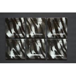 Płaski talerzyk Zebra - 17x17 cm