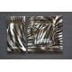 Kwadratowy talerz Zebra 35x35 cm