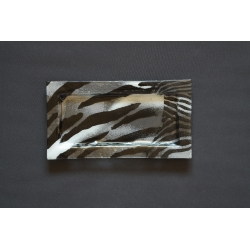 Prostokątny talerz Zebra 35x19 cm