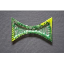 Duży wcięty talerz Amonit Zielony - 38x22 cm