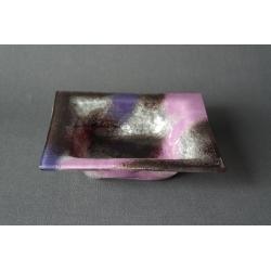 Kwadratowa misa Fiolet + Srebro - 20x20 cm