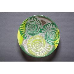 Patera Amonit Zielony - średnica 37 cm