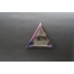 Trójkątny talerz Fiolet  Srebro - 23x23x23cm