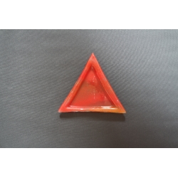 Trójkątny talerz Smugi Czerwone - 23x23x23 cm