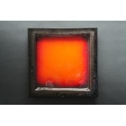 Kwadratowa patera  Wulkan Czarny - 35x35 cm