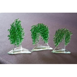 Statuetka zielone drzewko granulat średni 10 cm