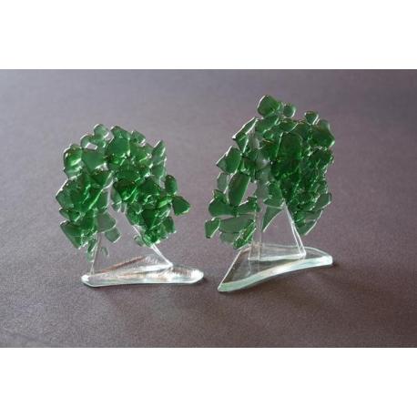Statuetka zielone drzewko granulat mały 12 cm