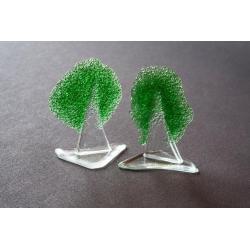 Statuetka zielone drzewko granulat 12 cm