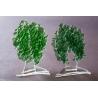 Statuetka zielone drzewko granulat gruby  17 cm