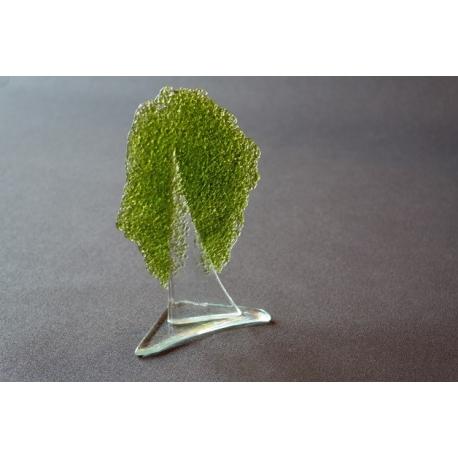 Statuetka oliwkowe drzewko granulat mały 17 cm