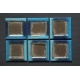 Kwadratowy płaski talerz - deserowy- Smugi Niebieskie 17x17 cm