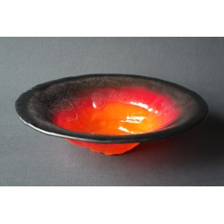 Creased bowl Black Volcano - 33 cm