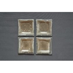 Płaski talerzyk Srebro 13x13 cm