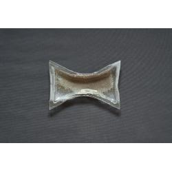 Mały wcięty talerz Srebro 24x17 cm