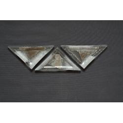 Trójkątny talerz Srebro 23x16x16 cm deserowy