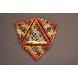 Trójkątny talerz deserowy 23x23x23 cm Afryka