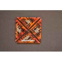 Triangular Plate Africa 23x16x16cm