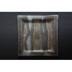 Kwadratowa patera Biel + Srebro 35x35 cm