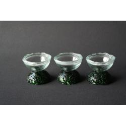 Miseczka rozmiar B - Zielona nóżka i transparentne szkło