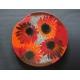 Okrągła patera Czerwone Kwiaty - średnica 54 cm