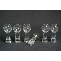 Kryształowy prosty Kieliszek do wódki, nalewki, likieru czarka kulka