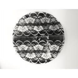 Okrągła patera talerz Biel + Srebro 32 cm