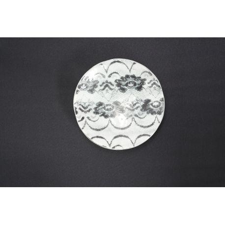 Patera koronka biała- średnica 23 cm