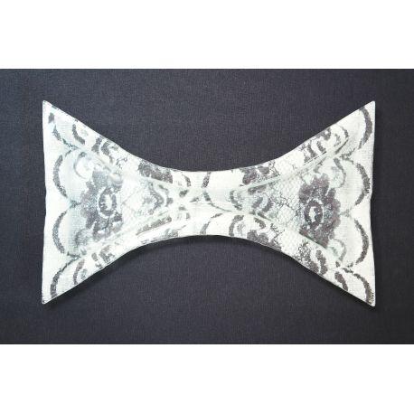 Duży wcięty talerz kornonka biała Lena- 38x22 cm